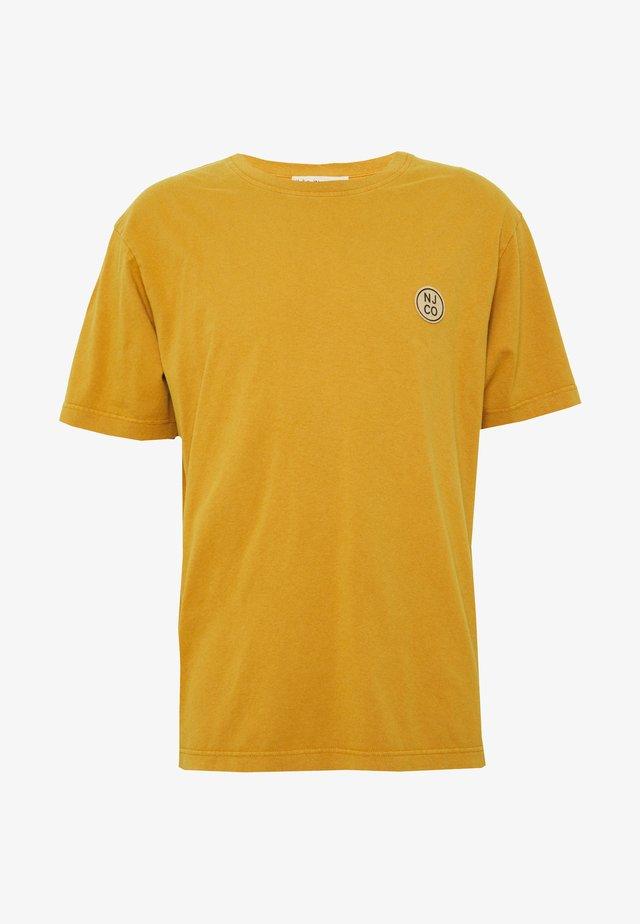 UNO - Jednoduché triko - amber