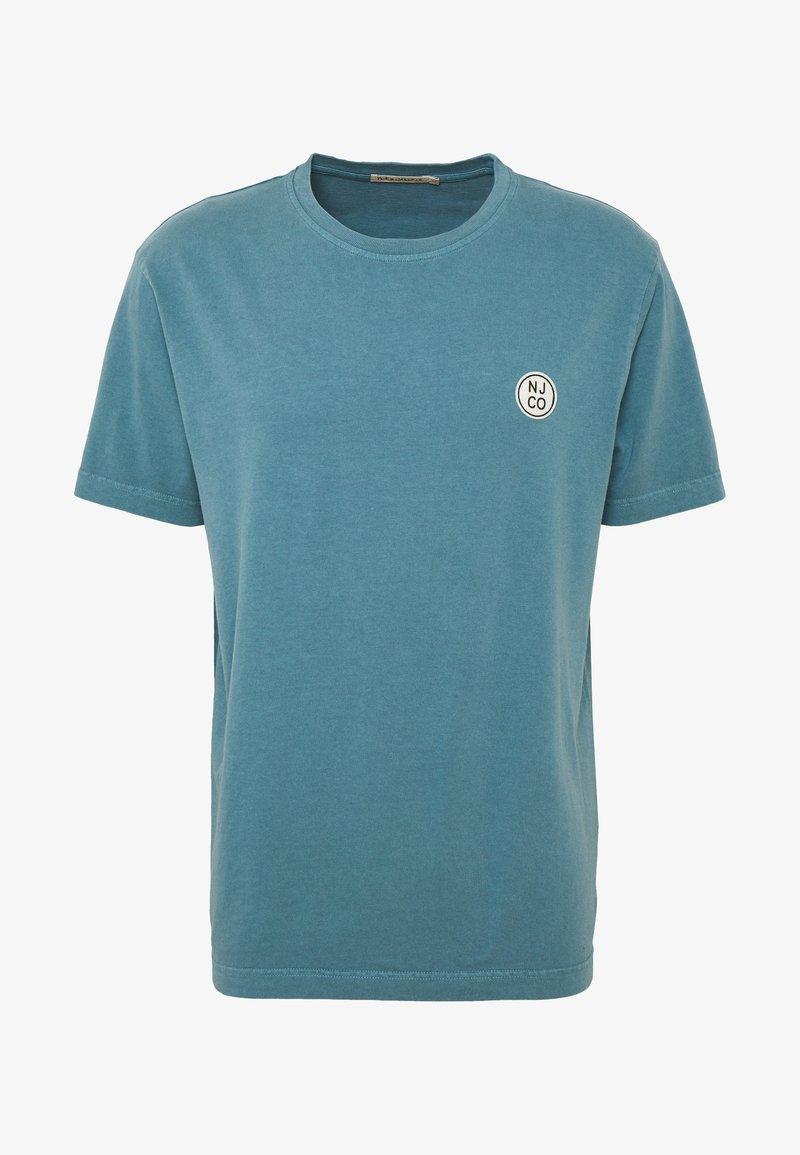 Nudie Jeans - UNO - Jednoduché triko - petrol blue