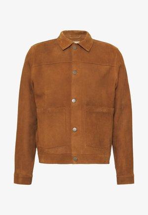 DANTE - Leather jacket - camel