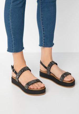 Platform sandals - blackblk