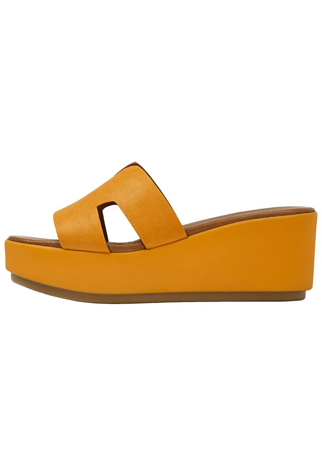 Heeled mules - orange org