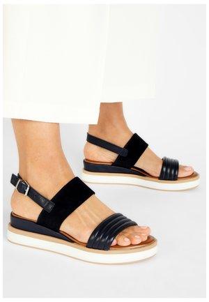 Platform sandals - navy nvy