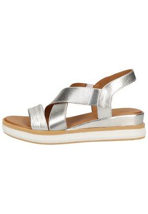 Sandalen met plateauzool - silver slv