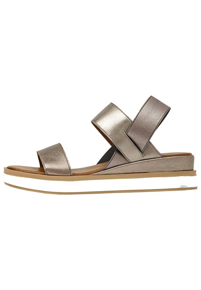 Platform sandals - pewter pwt