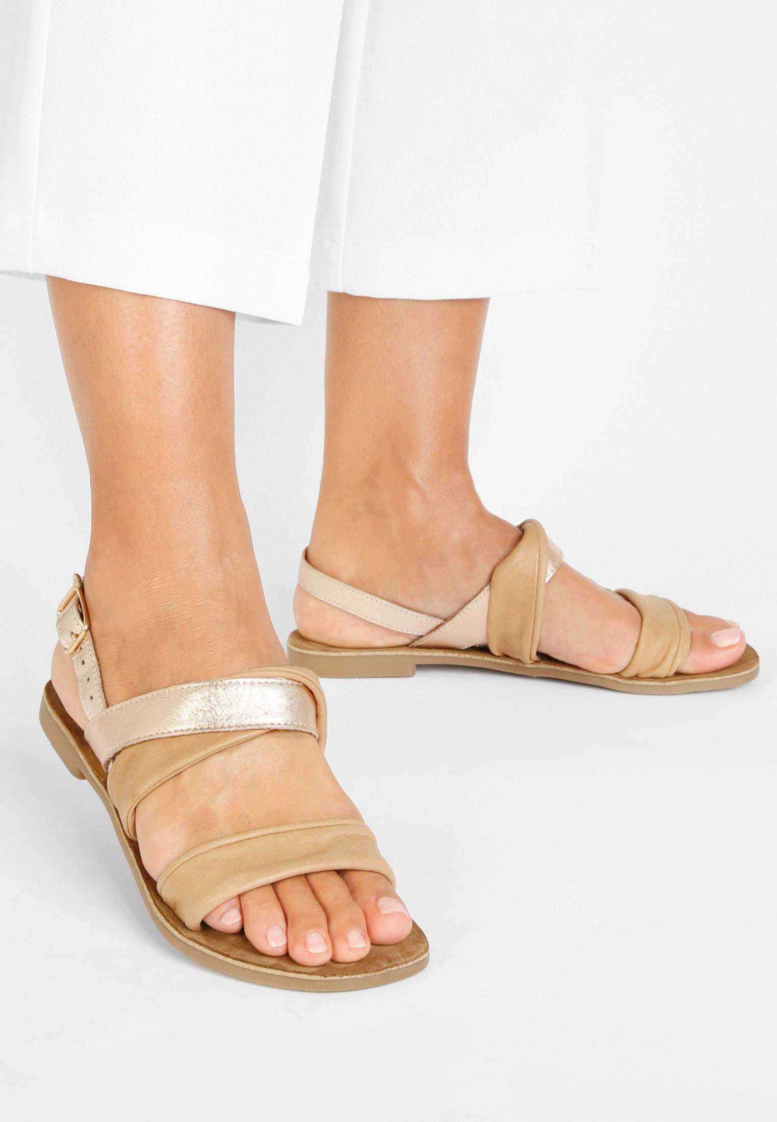 Stylowe brązowe sandały damskie Rieker idealne na ciepłe dni