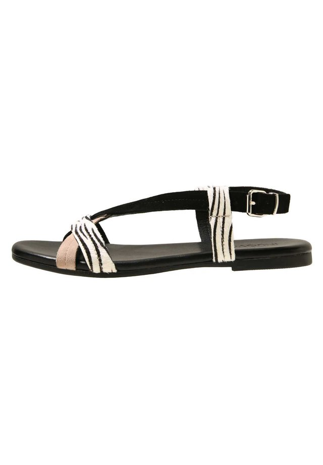 Sandals - zebra-sd blush-sd black zbb