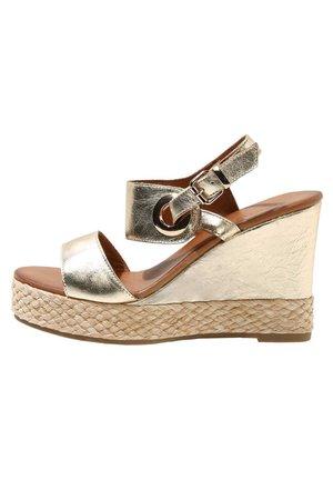 Sandalen met hoge hak - gold gld