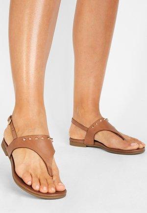 T-bar sandals - coconut ccn