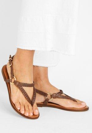 T-bar sandals - brown brn