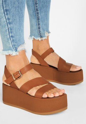 Platform sandals - coconut ccn