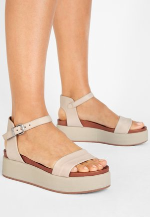 Ankle cuff sandals - bone bne