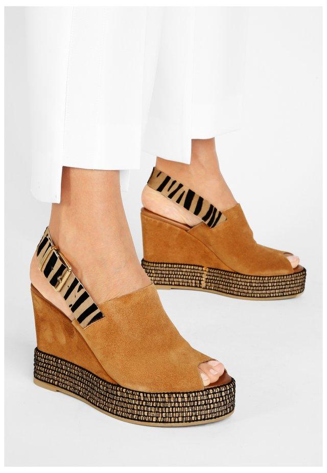 Sandalen met sleehak - sd scissors-tigercst