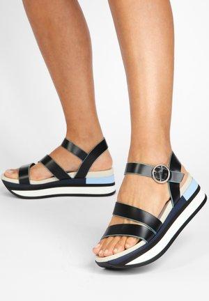 Platform sandals - bdrm navy dnv