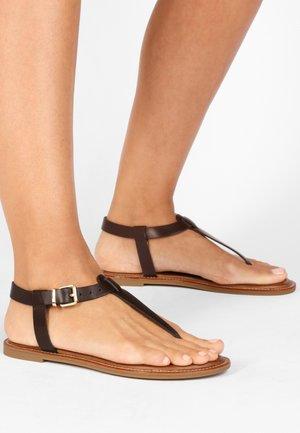 T-bar sandals - bdrm brown dbr