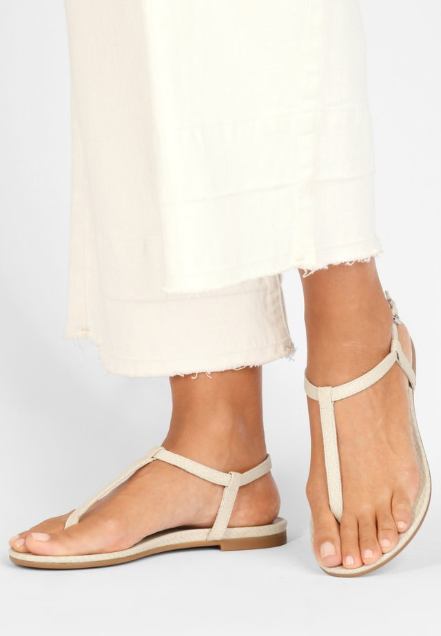 T-bar sandals - bone bne