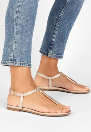 T-bar sandals - gold gld