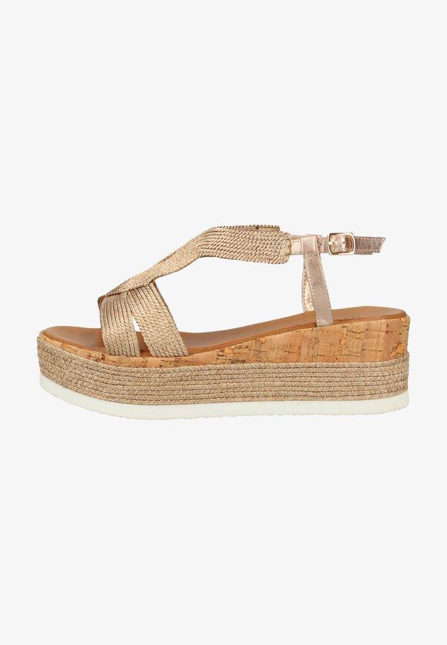 Platform sandals - shiny blush sbh