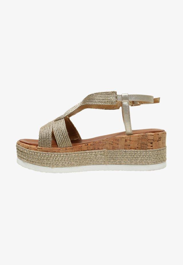 Platform sandals - gold gld