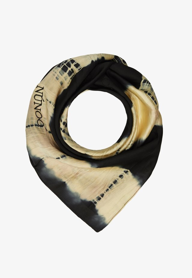 MARY SCARF DIP-DYE BLACK - Foulard - black/orange