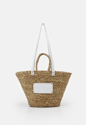 BEACH BAG LARGE - Shopping bag - nature/white