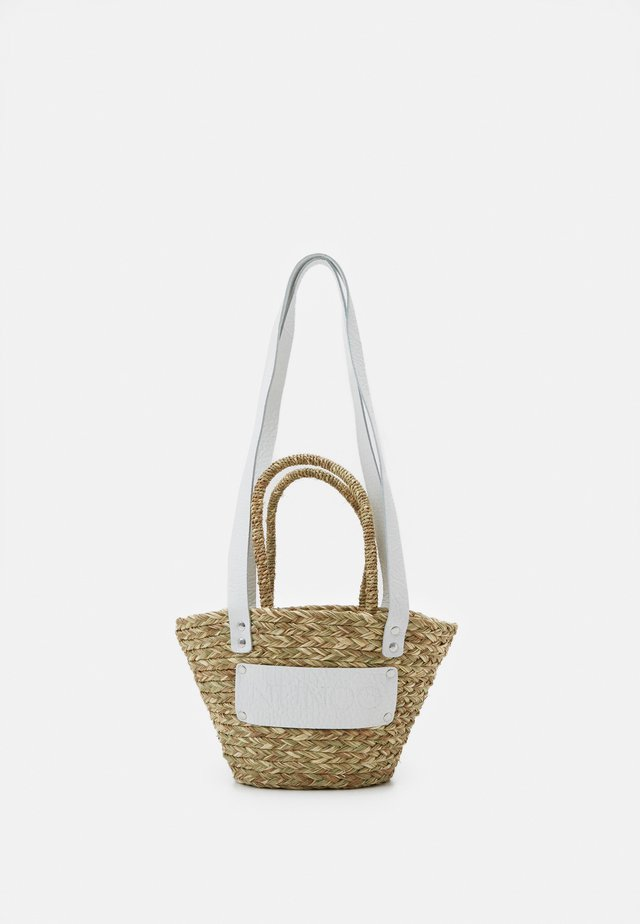 BEACH BAG SMALL - Handväska - nature white details