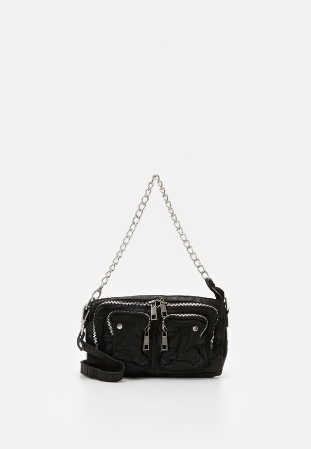 STINE CHAIN WASHED - Across body bag - black
