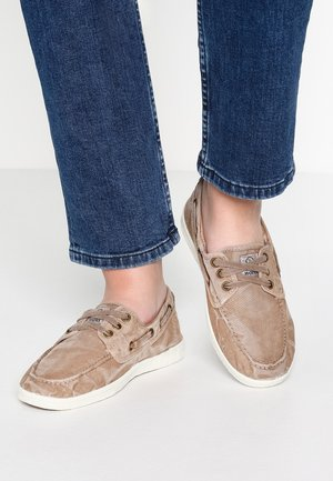 NAUTICO ENZIMATICO - Boat shoes - beige