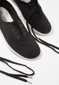 Natural World - INGLES TINTADO - Sneakersy niskie - black - 7