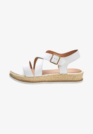 Plateausandalette - white