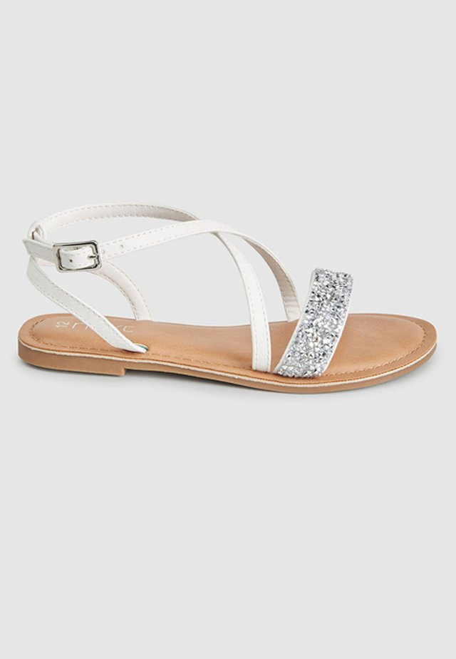 ROSE GOLD CROSS STRAP SANDALS (OLDER) - Sandály - white