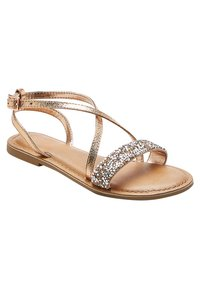 Next - ROSE GOLD CROSS STRAP SANDALS (OLDER) - Sandals - gold - 2