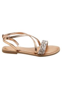 Next - ROSE GOLD CROSS STRAP SANDALS (OLDER) - Sandals - gold - 3