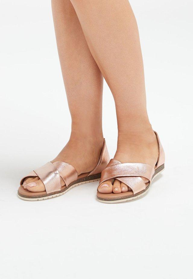 CROSS OVER  - Sandals - metallic grey