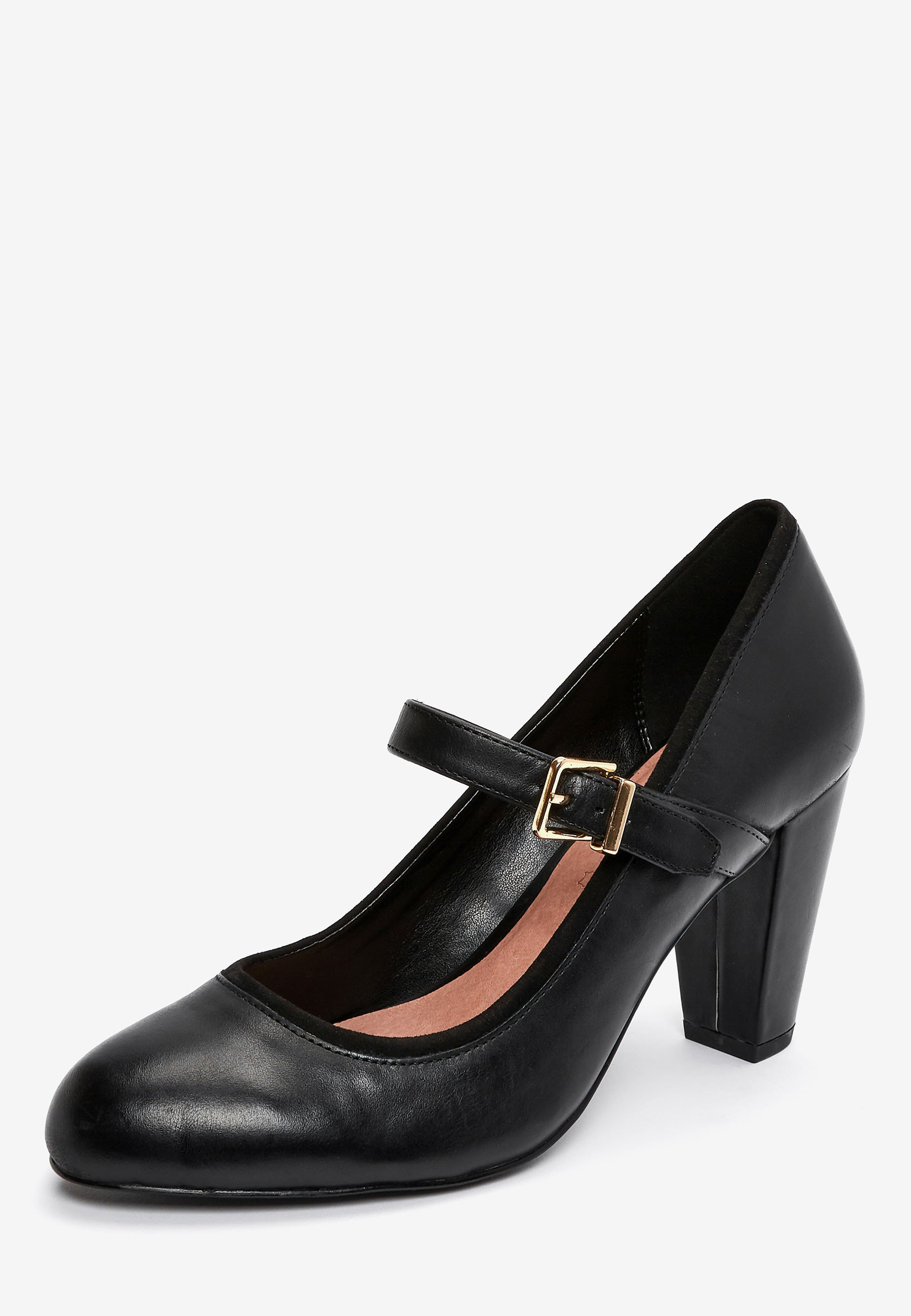 Next BLACK LEATHER MARY JANE SHOES - High heels - black