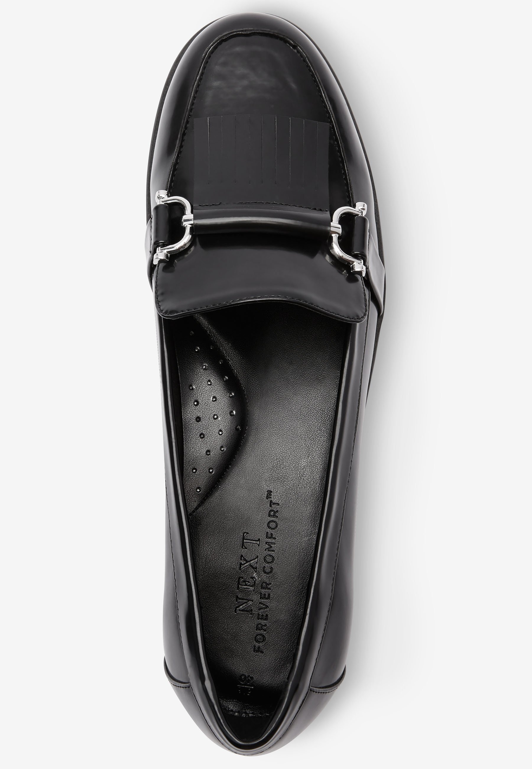 Next Navy Hardware Loafers - Black