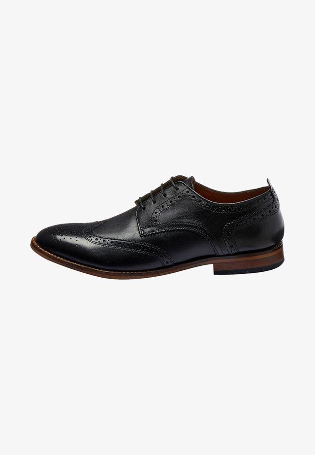 CONTRAST - Šněrovací boty - black