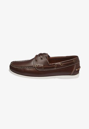 LEATHER BOAT SHOE - Chaussures bateau - brown
