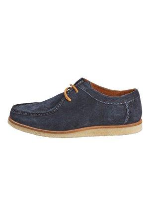 NAVY APRON DERBY SHOE - Casual lace-ups - blue