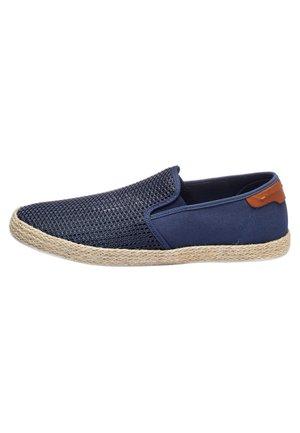 NAVY MESH JUTE SLIP-ON - Slip-ons - blue