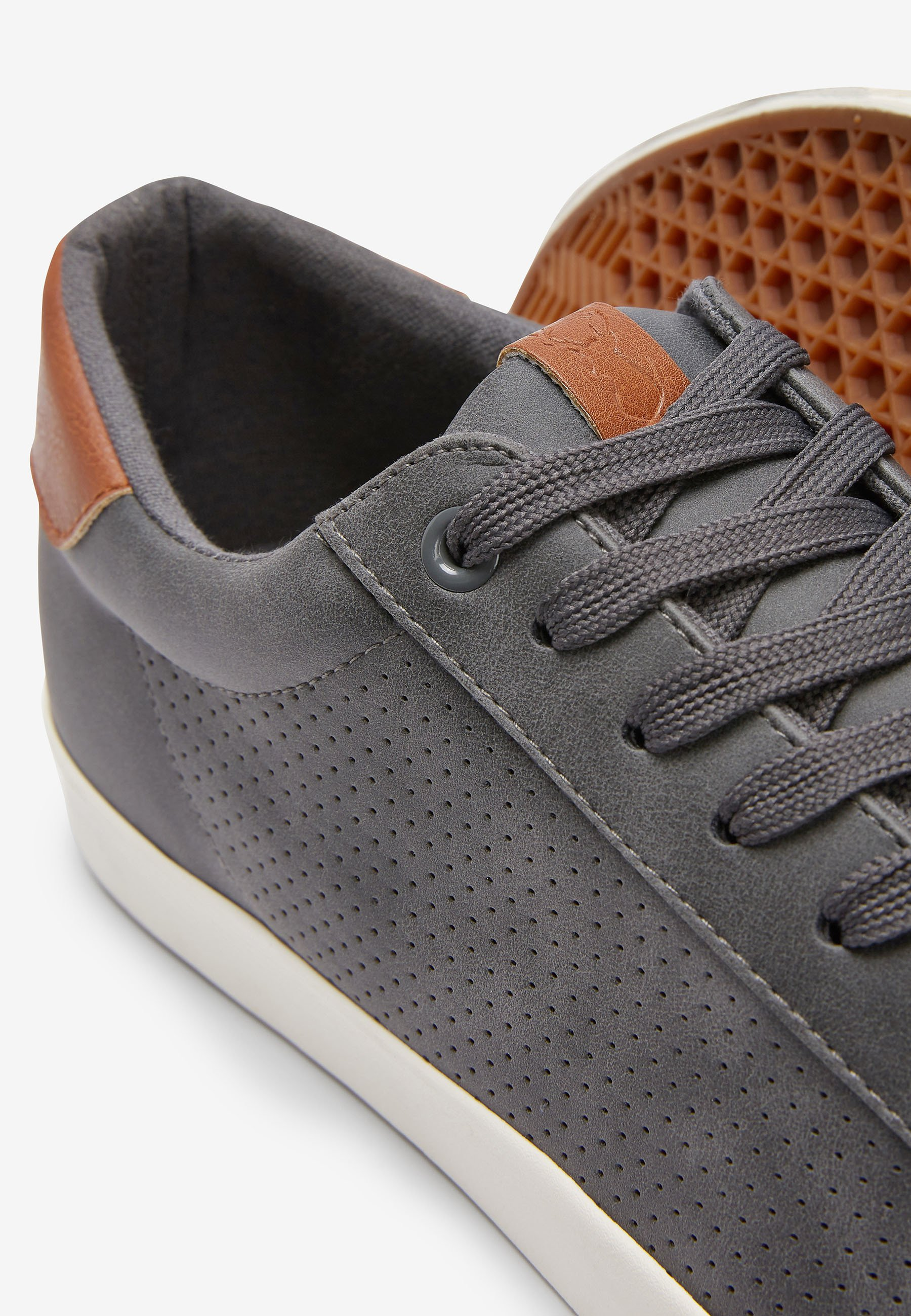 Next GREY PERFORATED TRAINERS - Sneakers - grey
