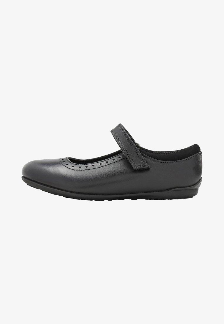 Next - BLACK MARY JANE BROGUES - Ankle strap ballet pumps - black