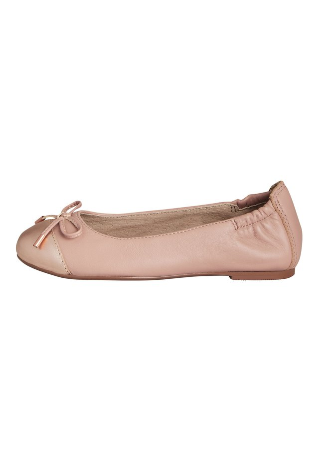 BLACK LEATHER BALLET SHOES (OLDER) - Ballet pumps - pink