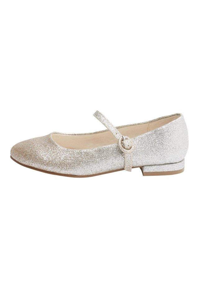 SILVER/GOLD GLITTER HEELED MARY JANE SHOES (OLDER) - Ballerinasko - gold