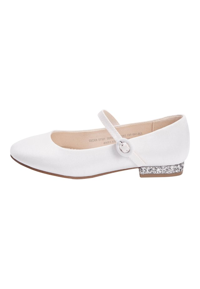 WHITE HEEL MARY JANE SHOES (OLDER) - Ankle strap ballet pumps - white