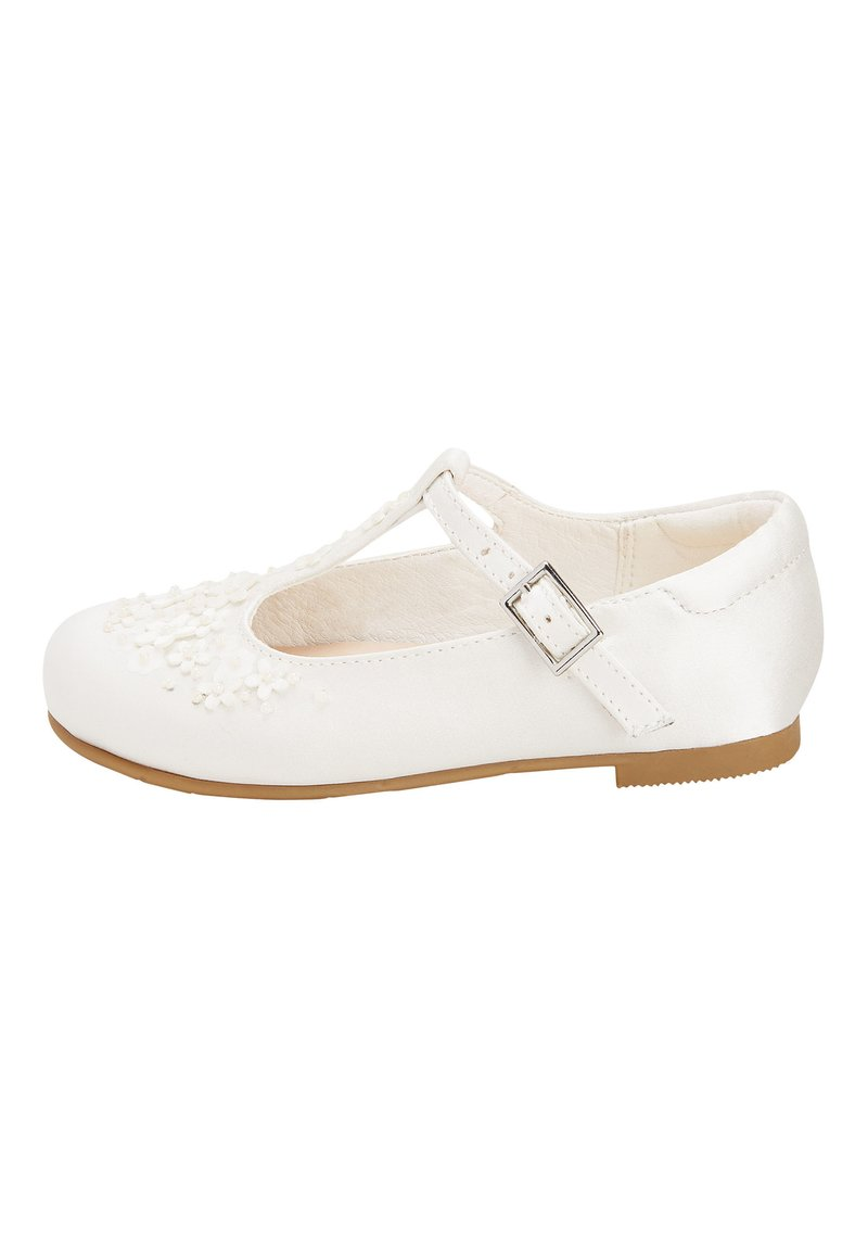 Next - WHITE FLOWER T-BAR SHOES (YOUNGER) - Dětské boty - white