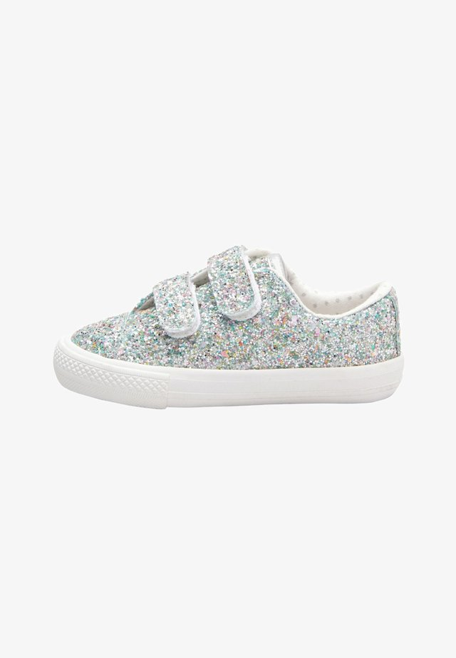 RAINBOW TOUCH - Chaussures premiers pas - metallic grey