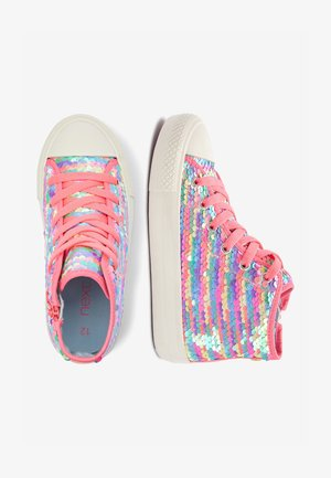PINK/BLUE SEQUIN HIGH TOP TRAINERS (OLDER) - High-top trainers - purple