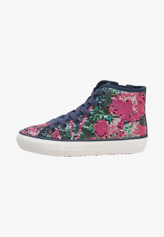 PINK/BLUE SEQUIN HIGH TOP TRAINERS (OLDER) - Höga sneakers - blue