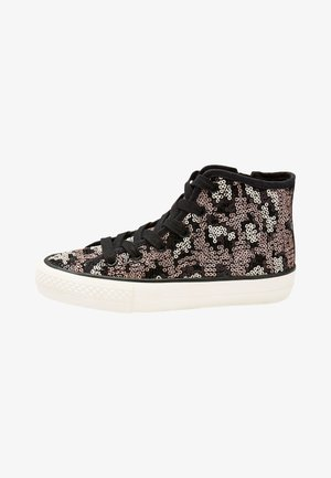 PINK/BLUE SEQUIN HIGH TOP TRAINERS (OLDER) - Sneakersy wysokie - brown