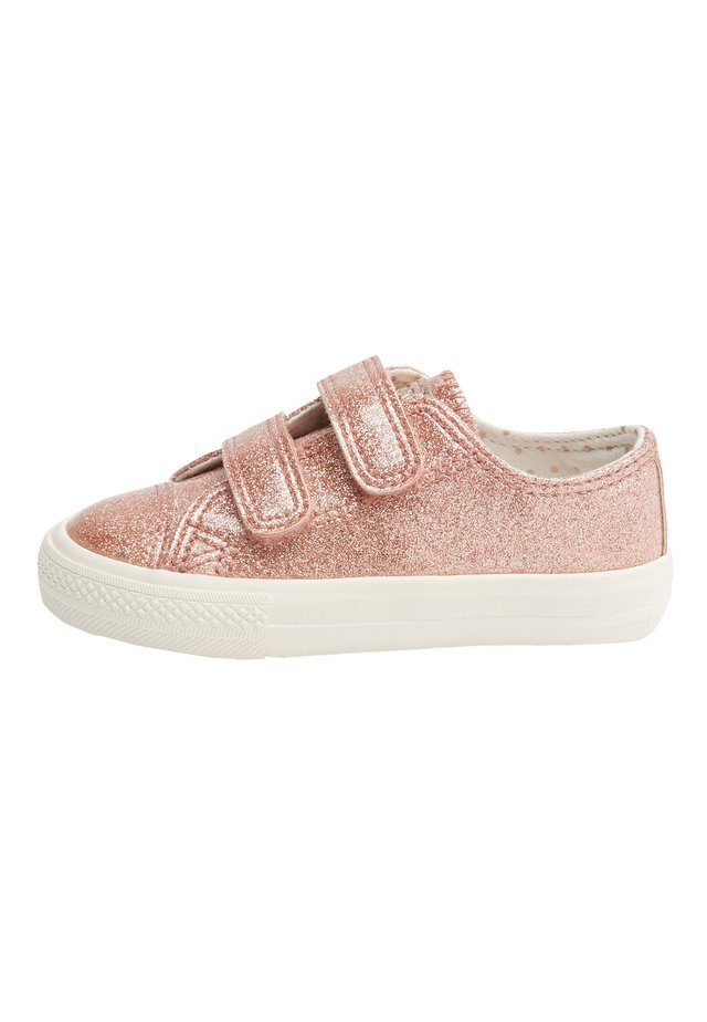 PINK GLITTER TOUCH FASTENING TRAINERS (YOUNGER) - Matalavartiset tennarit - pink